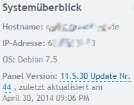 Aktuelle Versionen Debian und Plesk April 2014